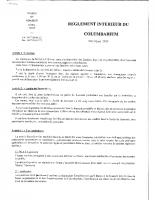 règlement columbarium